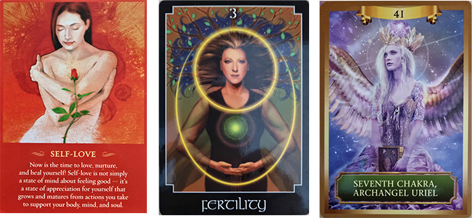Spiritual Tarot & Guidance 7th August ~ 14th August 2021. The cards are Self-love, Fertility, Seventh Chakra, Archangel Uriel.